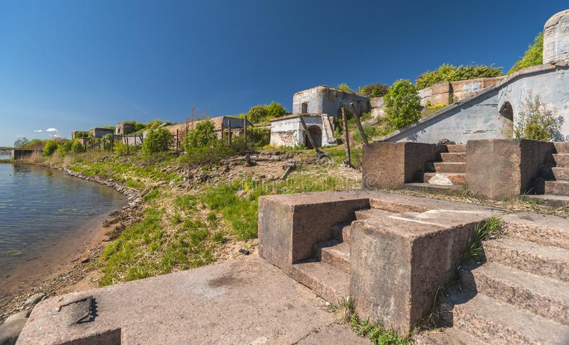 Abandoned Fort of the second world war royalty free stock photography