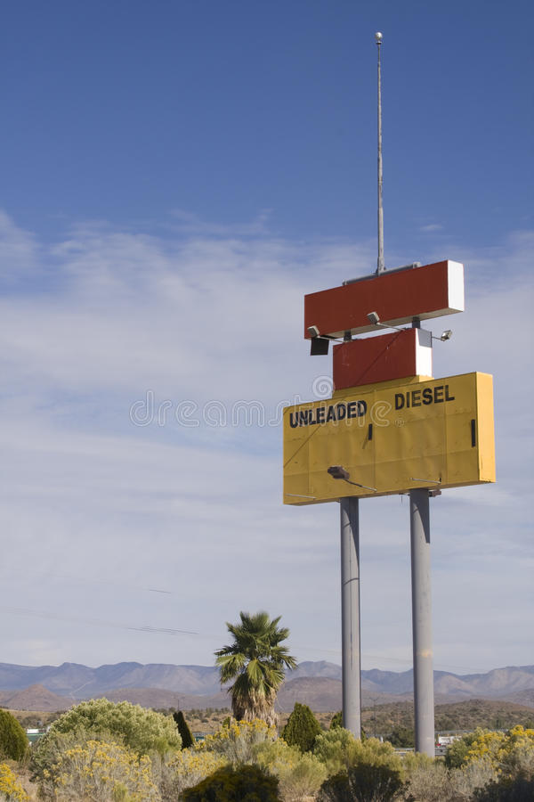 Download Abandoned Gas Station Sign Royalty Free Stock Image - Image: 13497086