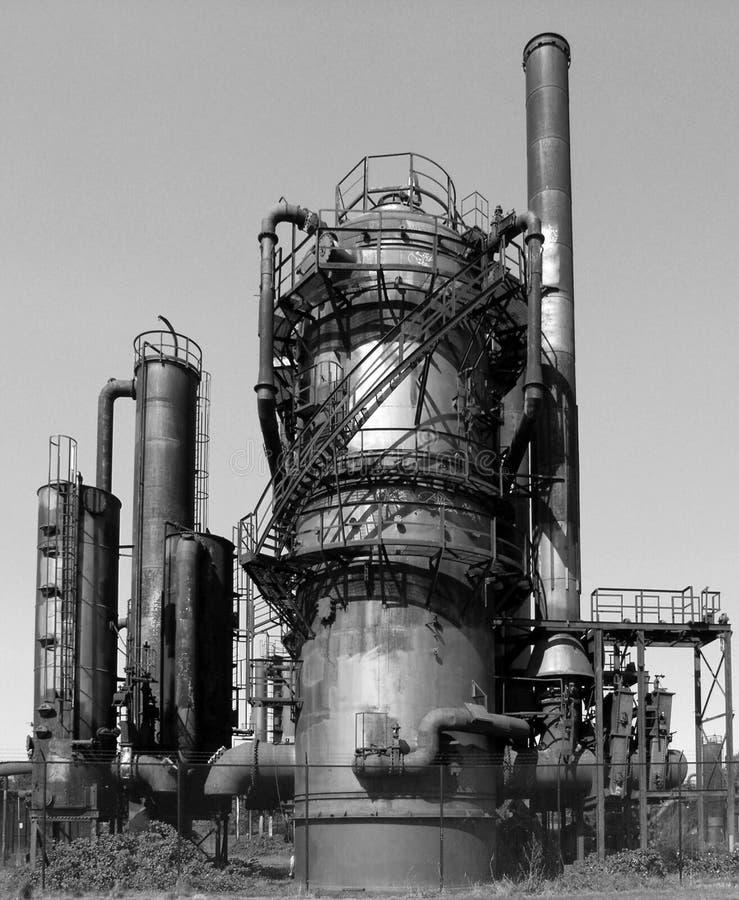 Abandoned Gasworks Stock Photo