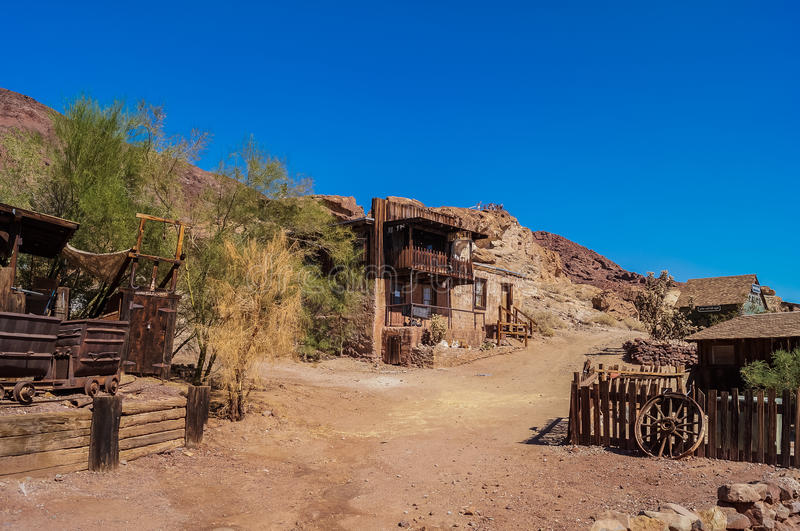 Abandoned ghost town Calico , California, United States, founded in 1881 ,a county park now. OCTOBER, 14. 2015- Calico, CA, USA: Calico , a small ghost town in royalty free stock images