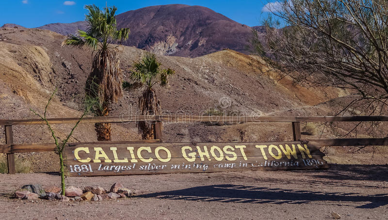 Abandoned ghost town Calico , California, United States, founded in 1881 ,a county park now. OCTOBER, 14. 2015- Calico, CA, USA: Calico , a small ghost town in royalty free stock photography