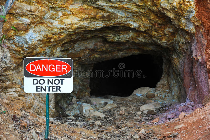 Abandoned Gold Mine stock photography