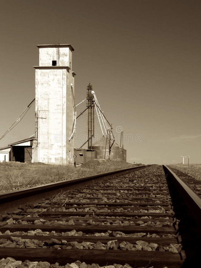 Abandoned Grain Elevator royalty free stock photo