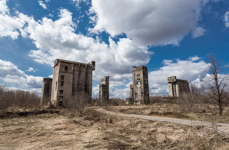 Abandoned granaries royalty free stock images
