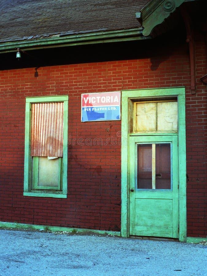 Abandoned Hespler Railway Station stock photography