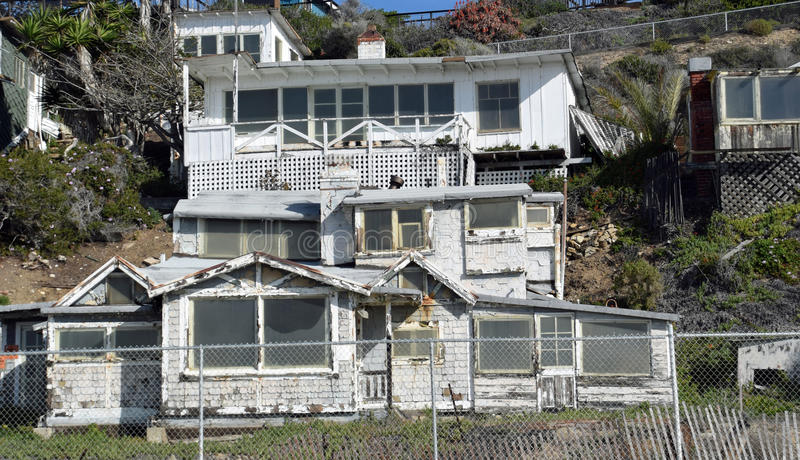 Empty Historic Home In The Crystal Cove State Park
