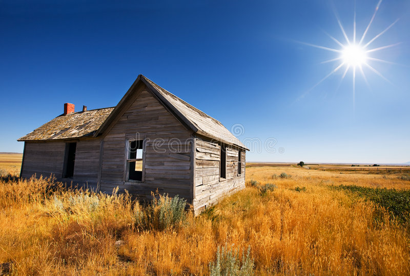 Abandoned home stock images
