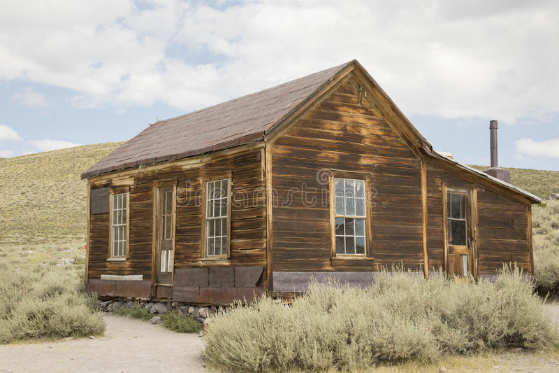 Abandoned home in Bodie, CA. Exterior of abandoned house in Bodie State Historic Park, CA stock photography