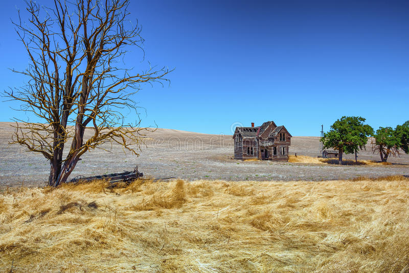 Abandoned Homestead In Dufur Oregon stock photo