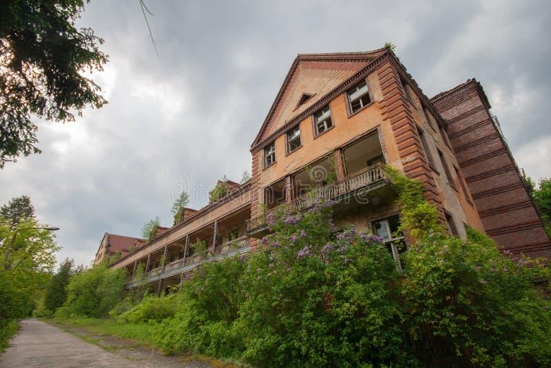 Abandoned hospital stock images