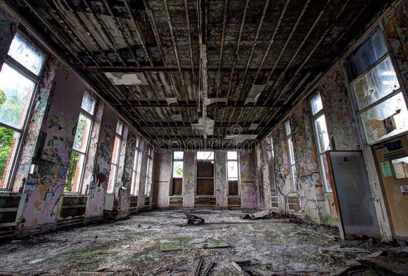 Abandoned hospital stock photos