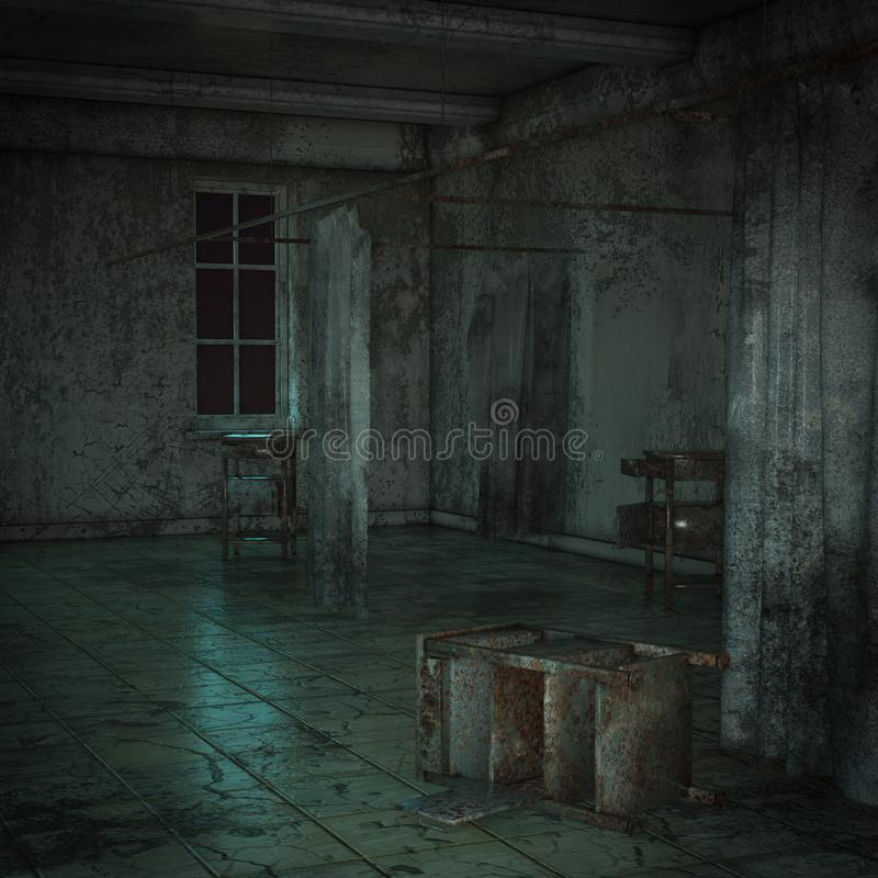 Download Abandoned Hospital Ward Stock Illustration Of Creepy
