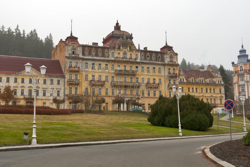 Abandoned hotel in Marianske Lazne (Marienbad Spa) royalty free stock images