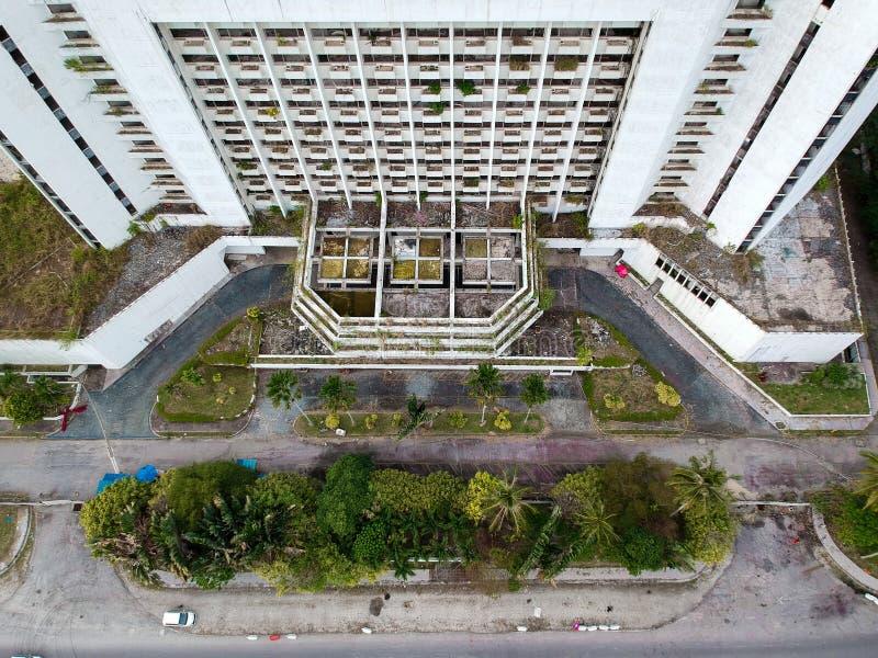 abandoned hotel on penang island malaysia stock photo