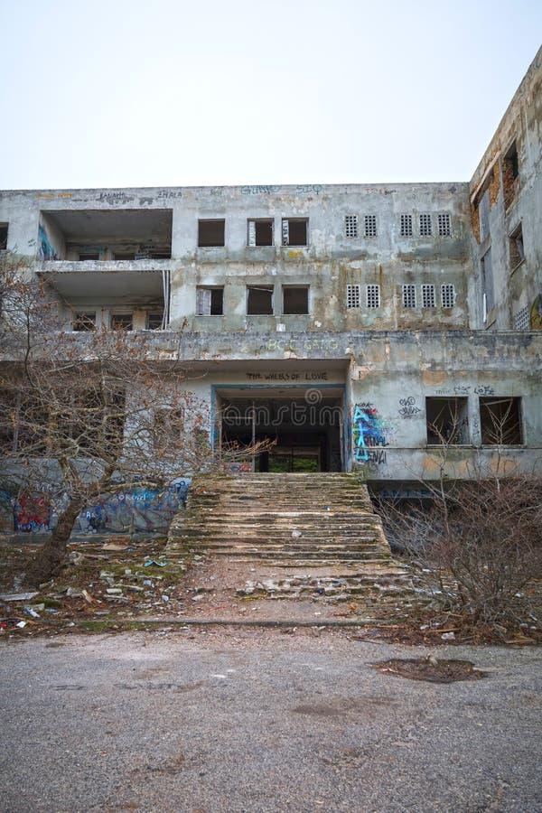 Abandoned hotel stock photography