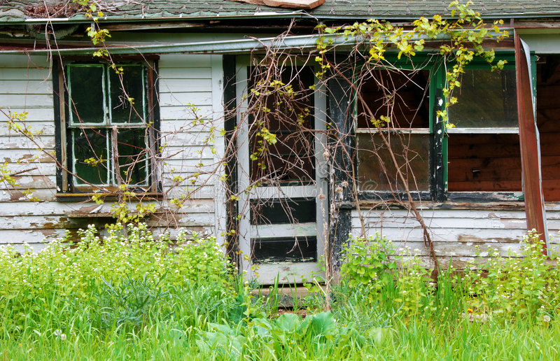 Abandoned House. Falling apart from neglect royalty free stock image