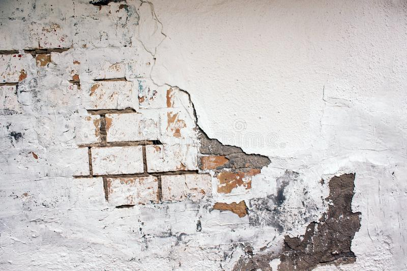 Abandoned house brick wall royalty free stock photography