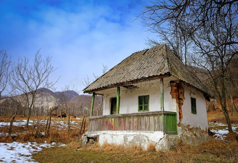 Abandoned House in countryside royalty free stock images