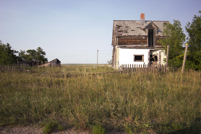 Abandoned house in ghost town royalty free stock photography