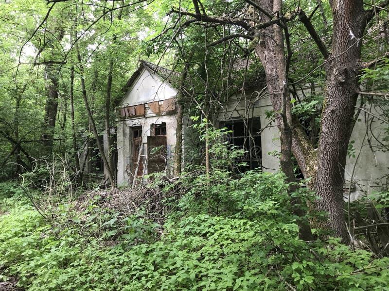 Abandoned house. Near Chernobyl Ukraine stock image