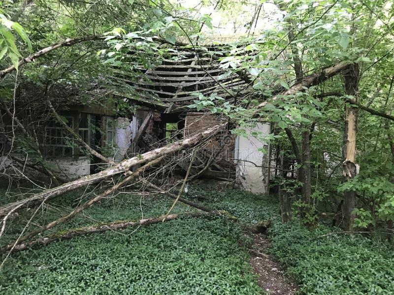 Abandoned house. Near Chernobyl Ukraine stock images