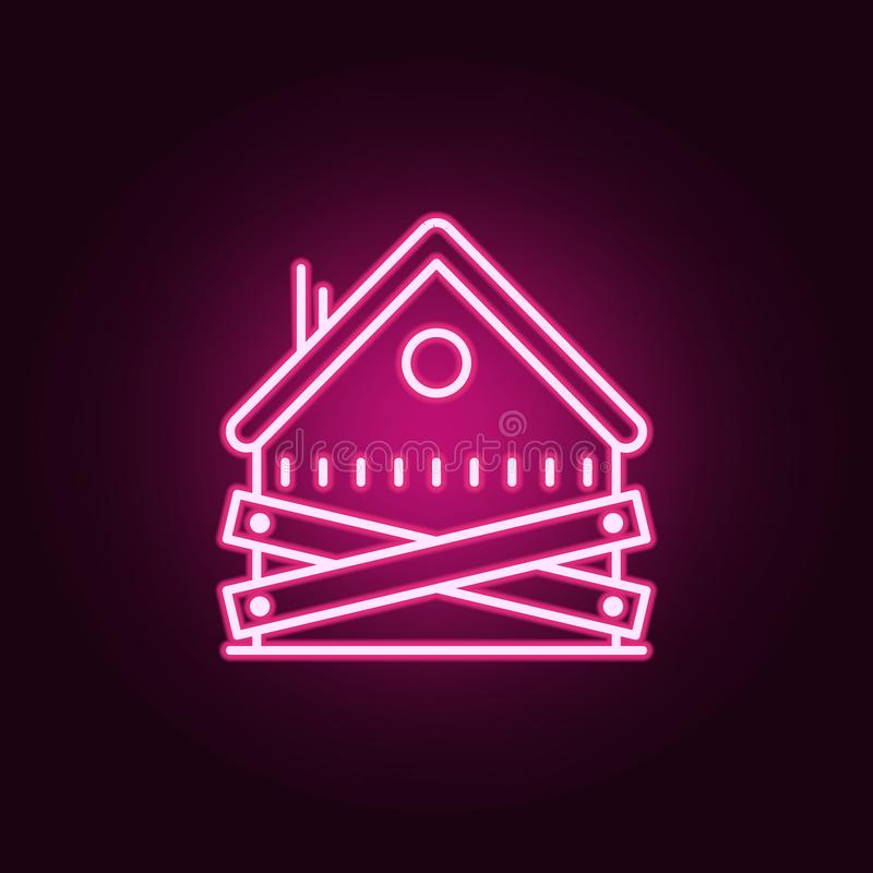 Free Abandoned House Neon Icon. Elements Of Banking Set. Simple Icon For Websites, Web Design, Mobile App, Info Graphics Stock Images - 144329154
