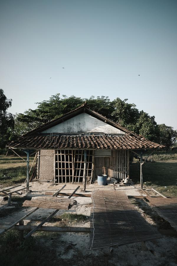 Abandoned house. An old abandoned house in Indonesia royalty free stock image
