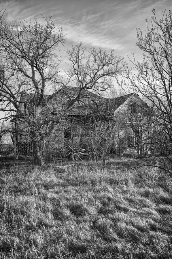 Abandoned House. An old abandoned house in rural Texas royalty free stock images