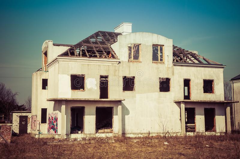 Abandoned house royalty free stock image