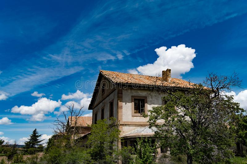 Abandoned house in ruins. royalty free stock photography