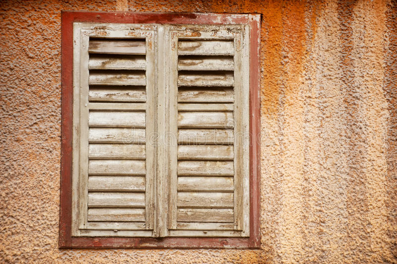 Abandoned house shutters detail royalty free stock photos