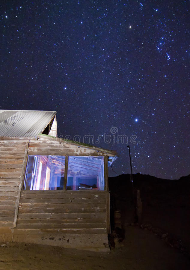 Download Abandoned House Stars stock image. Image of mine, starry - 23336359