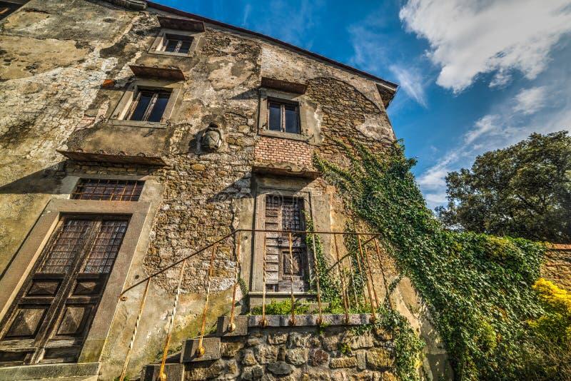 Abandoned house in Tuscany. Italy stock photography