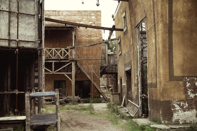 Abandoned Houses In The Ancient Rome Royalty Free Stock Photography