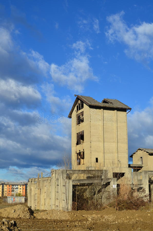 Abandoned industrial building stock photography