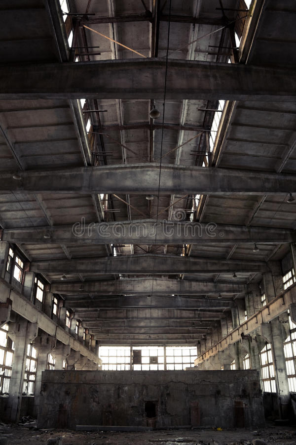 Download Abandoned Industrial Interior Stock Image - Image of factory, creepy: 13087349
