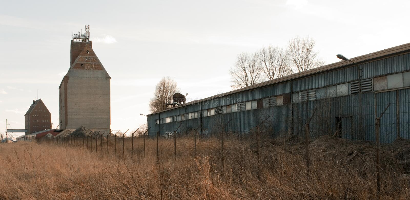 Abandoned storage and granary stock photo