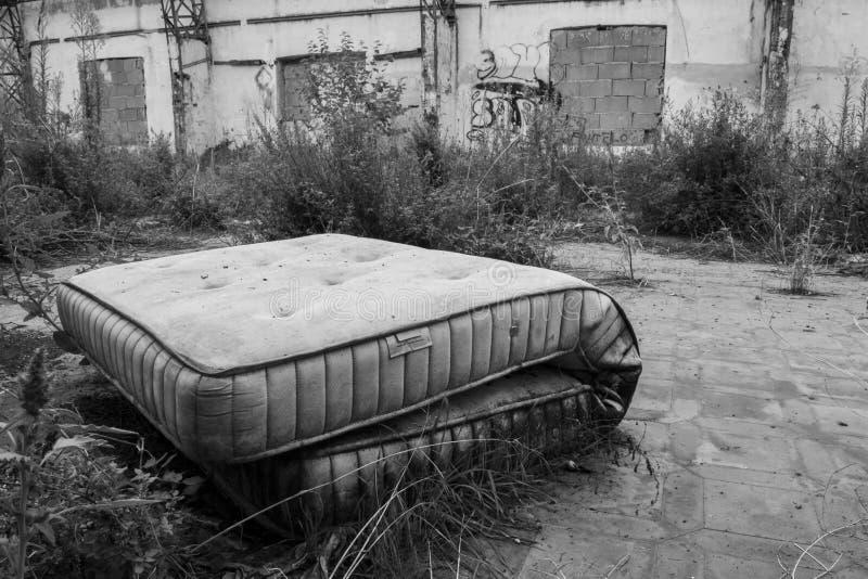 Abandoned mattress royalty free stock image