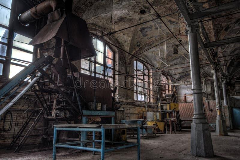 Abandoned meat processing plant slaughterhouse Rosenau, Kalinin stock image