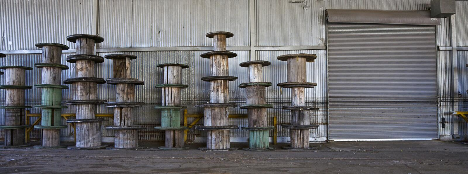 Abandoned Metal Factory Royalty Free Stock Photography
