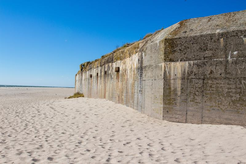 Abandoned military bunker on Cape May Point stock image