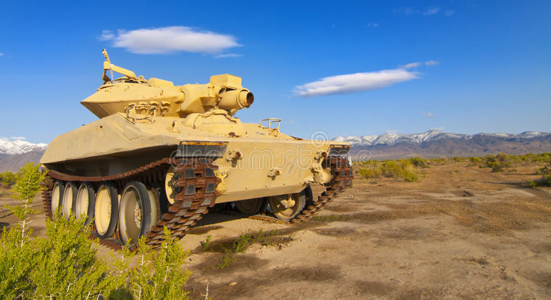 Abandoned Military Tank stock photo