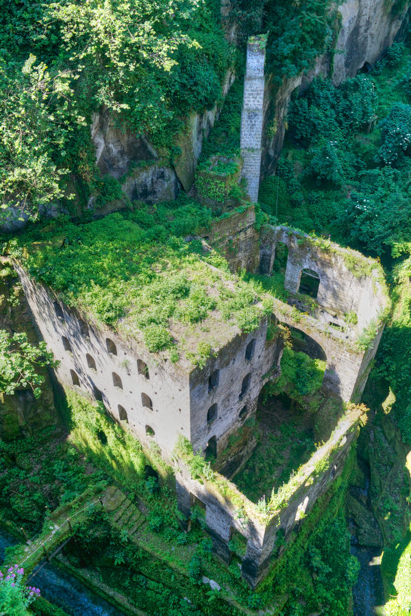 Abandoned mill stock photography