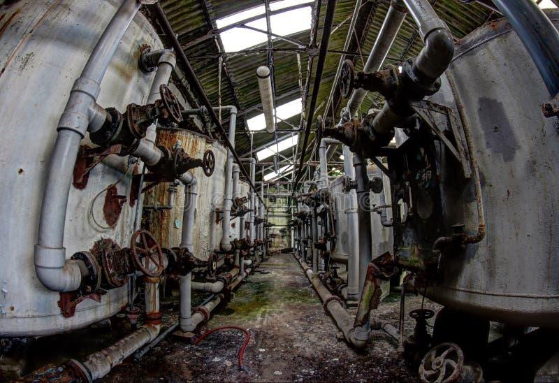 Abandoned mill stock photo