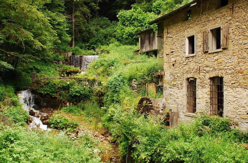 Abandoned Mill Near Salino royalty free stock photo