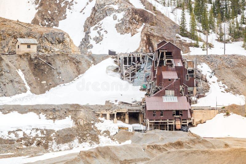 Abandoned mine building royalty free stock photo