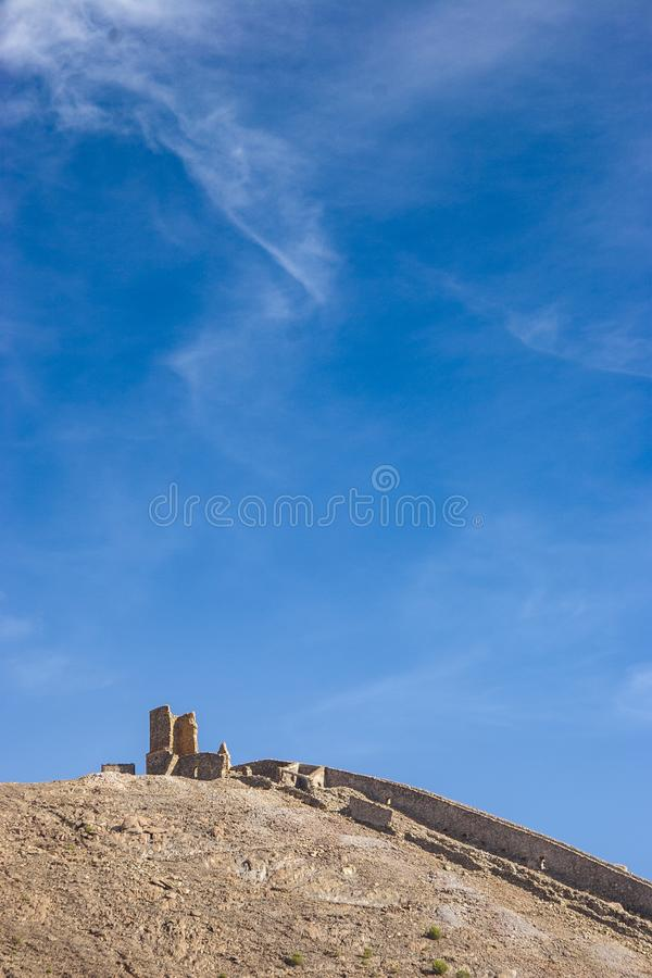 Abandoned mine landscape, Rio Tinto royalty free stock image