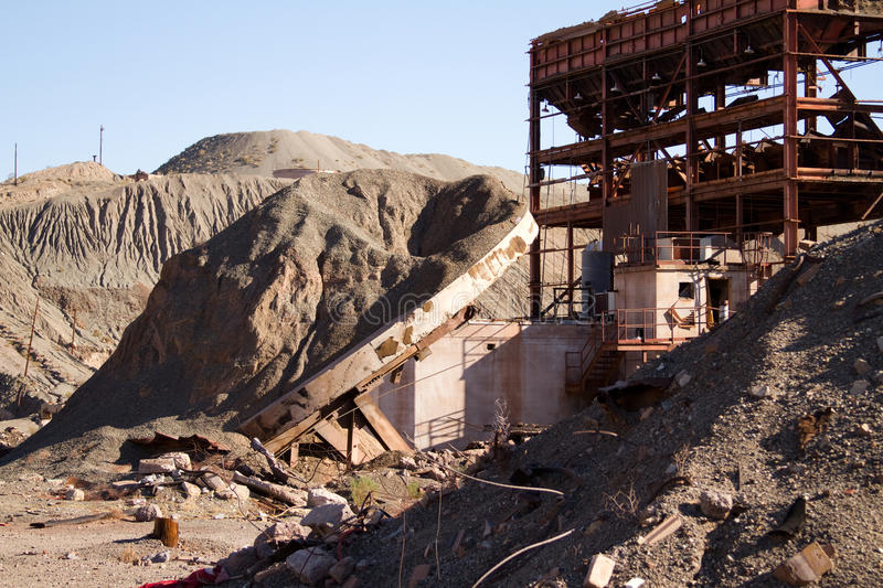 Abandoned mine structure royalty free stock photo