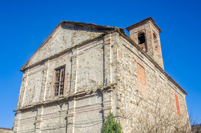 Abandoned monastery in Bobbio - Piacenza - Italy.  royalty free stock photography