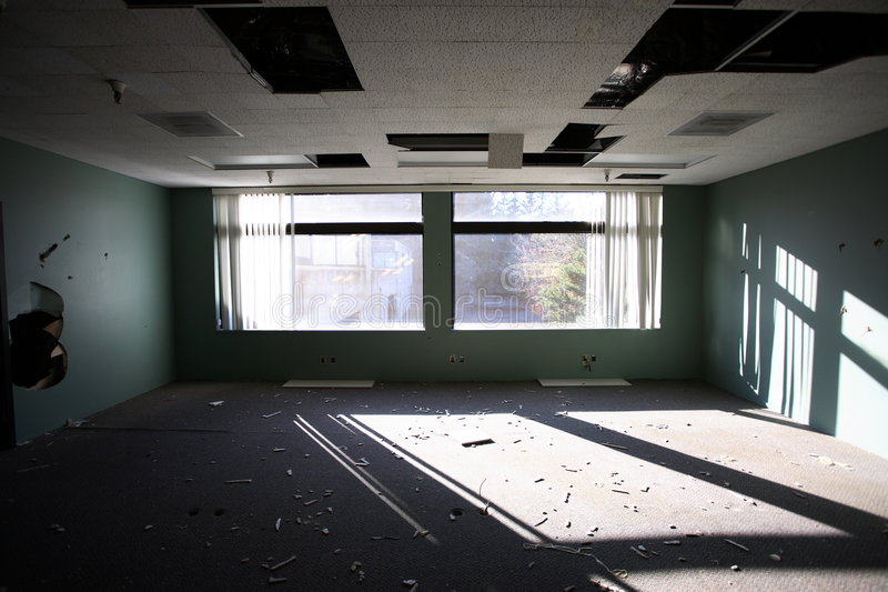 Abandoned office building royalty free stock photos
